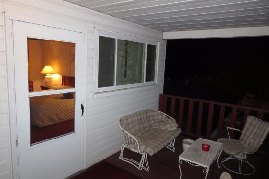Welch, MN: The deck outside our room