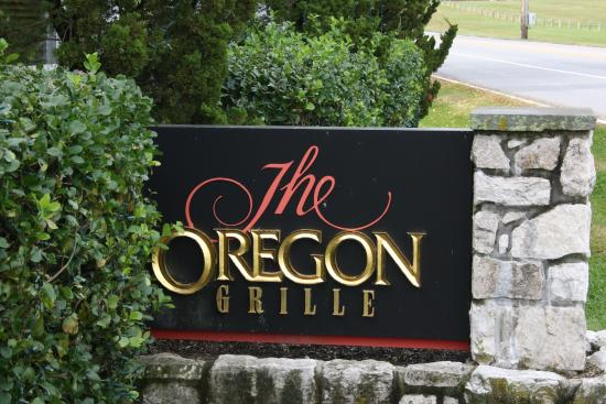 The Oregon Grille : Sign in front of restaurant