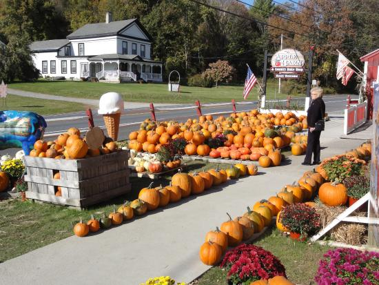 The Apple Barn and Country Bake Shop : Fall display
