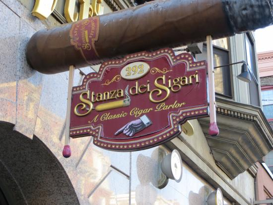 Stanza Dei Sigari Boston : Look up for this impactful sign picture of stanza dei sigari