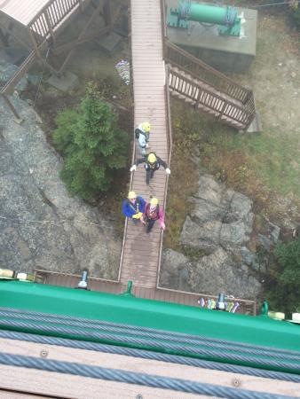 Zip Line Overhead At The Gunstock Resort Gilford Nh