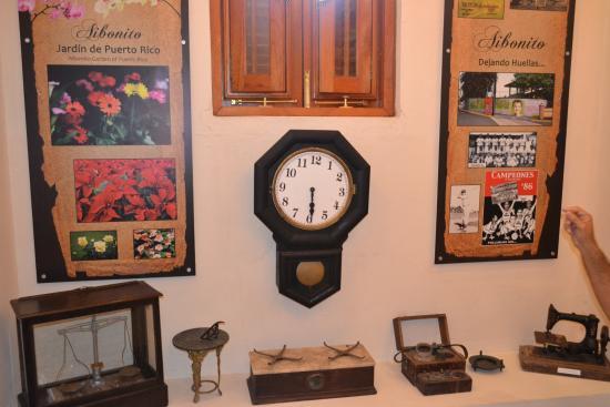 Aibonito, Puerto Rico: Artículos antiguos en exhibición