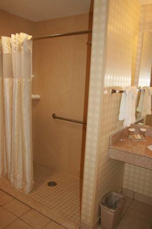 Hilton Garden Inn Mystic Groton: Accessible Roll-In Shower