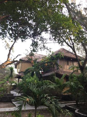 Alam Gili: Dyung room (upstairs) - view from the garden
