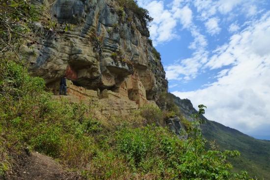 Revash Mausoleo de los Chachapoyas: Bella vista de todo el lugar