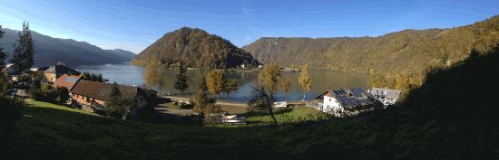 Schlogen, Austria: Blick auf Donau