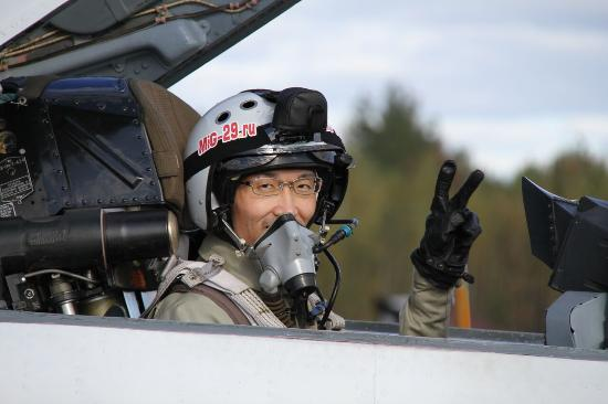 Tourist from Japan in cockpit of MiG29 - Picture of MIG-29 Flight