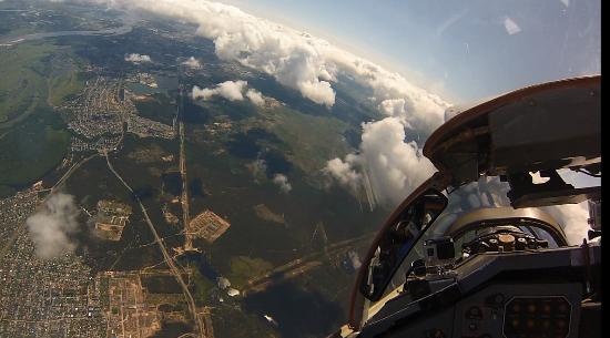 view from cockpit in Stratosphere flight - Picture of MIG-29 Flight