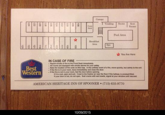 Best Western Spooner Riverplace: First Floor Map