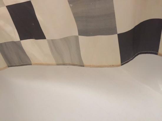 ResidHotel Grand Prado : Muffa e sporco sulla tenda della cucina