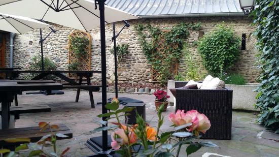 Relais Aspois : Terrasse très agréable aux beaux jours