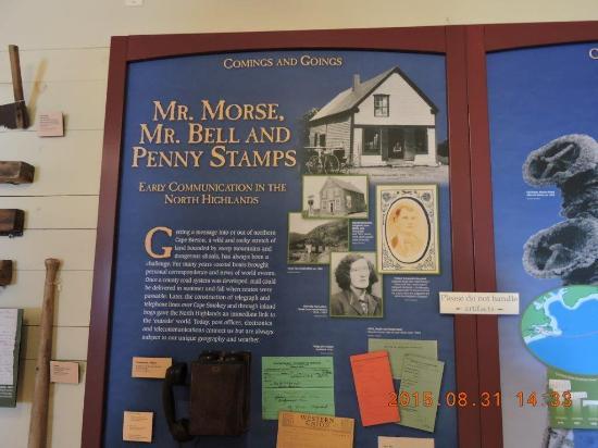 North Highlands Community Museum: telegrama, telefone, selos - spre tem a origem e o inventor
