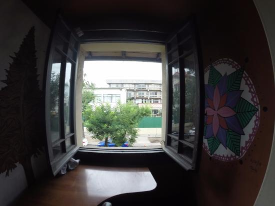 Moai Viajero Hostel: Vista do quarto