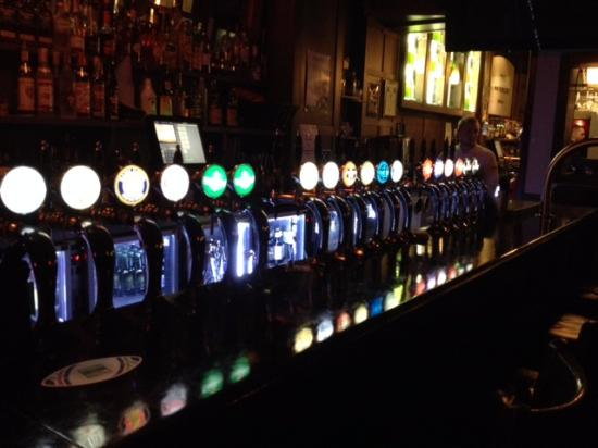 Beer Taps at The Waterloo - Picture of The Waterloo Bar, Dublin ...