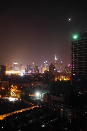 Mayson Apartment Hotel Shanghai Waitan: Vue sur la rivière depuis le 21ième