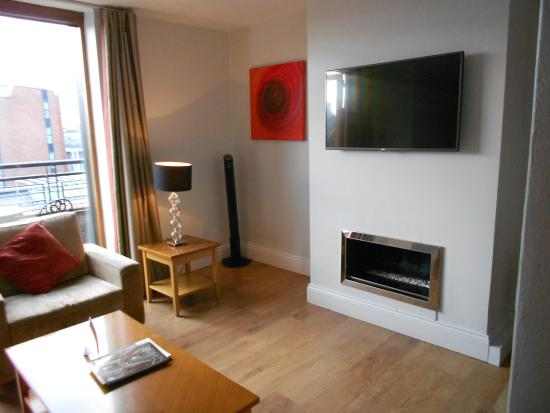 PREMIER SUITES PLUS Dublin Leeson Street : Another view of the living room.