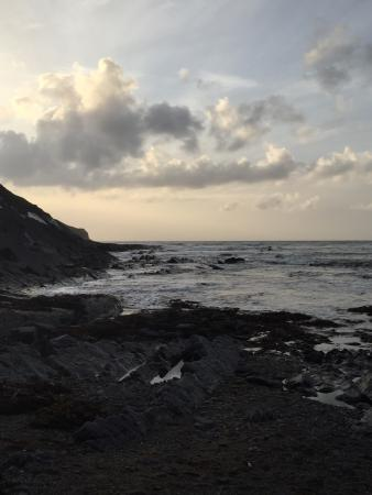 Crackington Haven, UK : Just as the sun was setting..