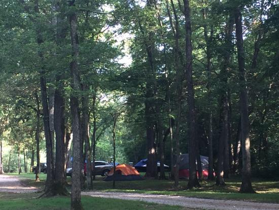 Steelville, MO: Our campsite in the distance