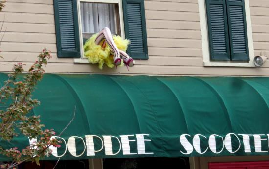 Saugatuck, MI: Humor and women's clothing at Hoopdee Scootee