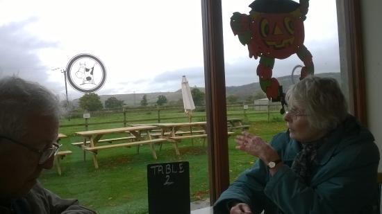 The Rowdey Cow Cafe and Ice Cream Parlour: view from the diner