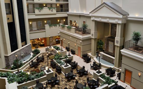 lobby view from room picture of embassy suites by hilton. Black Bedroom Furniture Sets. Home Design Ideas