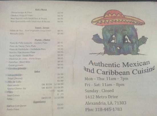 Caro 39 s authentic mexican and caribbean cuisine mexican for Authentic caribbean cuisine