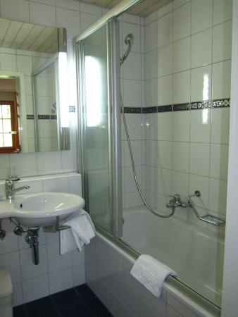 Hotel Silberhorn: Bathroom in the Chalet Superior Room