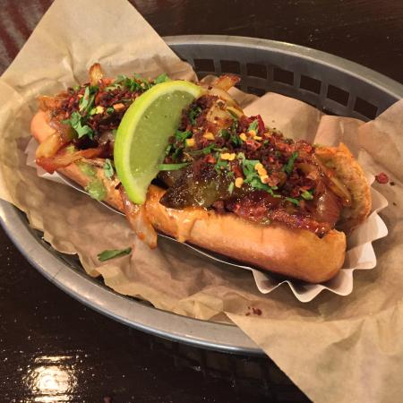 SECRET MENU ITEM: Our Mutt Dog, a mix between the Green and