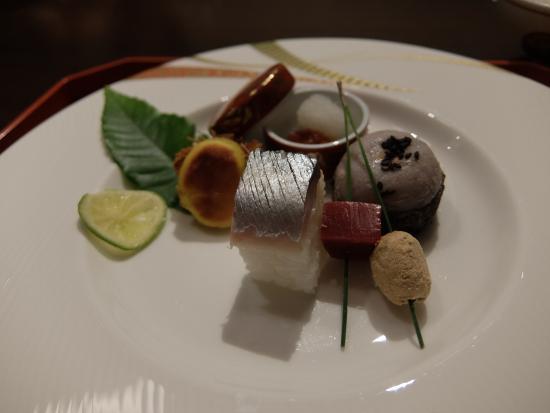 Koyokan Bettei Azare: 食事(前菜)