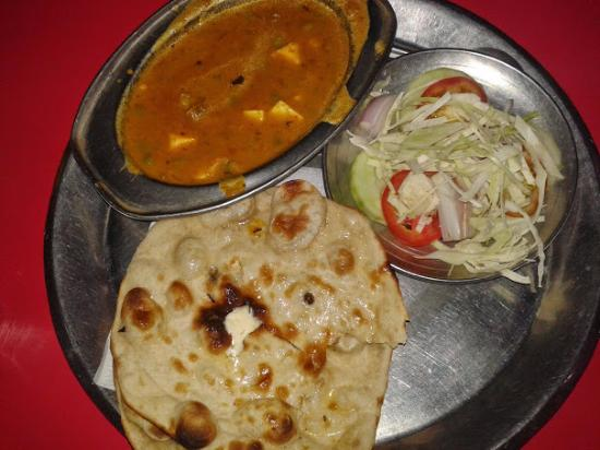 Mouth watering food in one of the Dhaba in Haryana