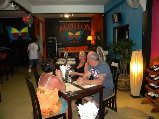Papillon Bar & Restaurant : le restau