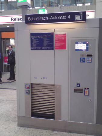 Cologne Central Station: The Automated Luggage Storage Kiosk