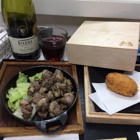 Miyakonojo Wing International Hotel: 一階のゆめ膳からお料理をルームサービスできました。 とってもいいサービスだと思います。