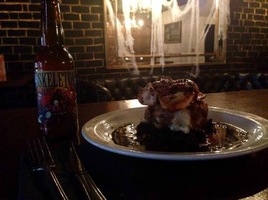 The Howlin' Wolf: The Wolf's Halloween special; Pollo Diablo coupled with a bottle of Skeleton Blues