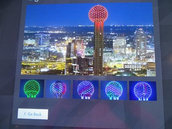 Reunion Tower Geo Deck Light Show Simulator & Geo Deck Light Show Simulator - Picture of Reunion Tower Dallas ...