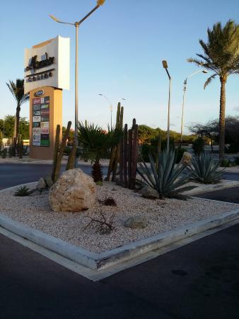 Alhambra Casino: Casino with the desert plantings at the entrance