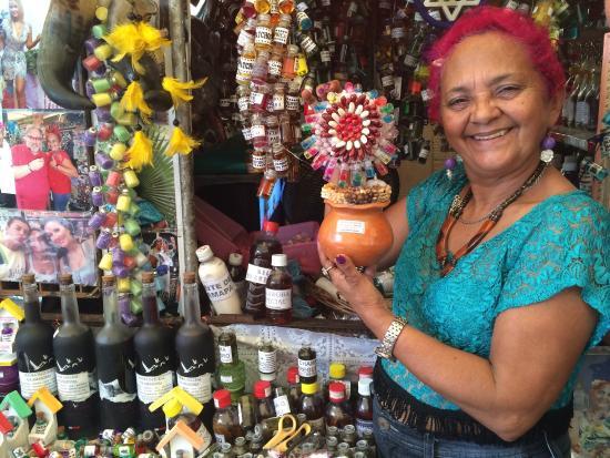 Mercado Ver-o-Peso: Beth Cheirosa, ervas e cheiros, famosa !