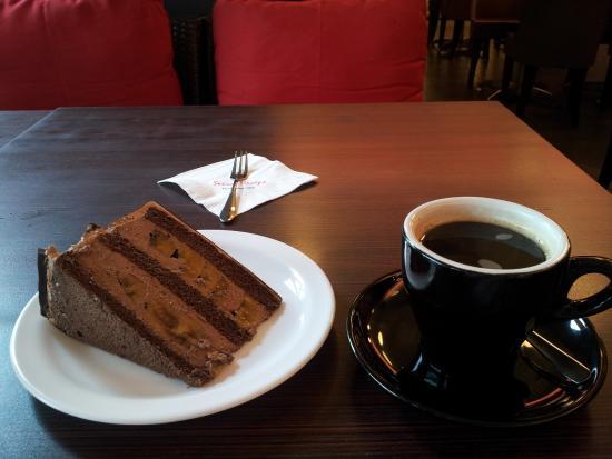 Secret Recipe Chocolate Banana Cake With Long Black Coffee