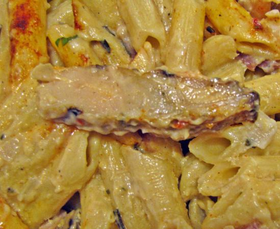 Romano's Macaroni Grill: Processed, plumped up chicken - no thanks!
