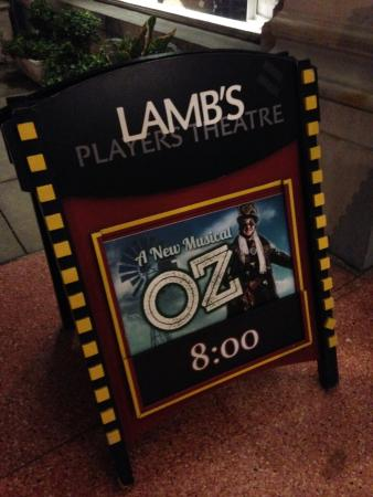 Lamb's Players Theatre: a new oz musical, yay
