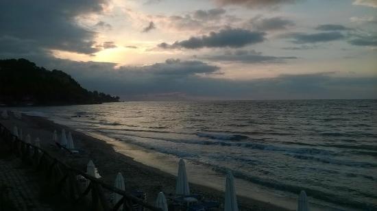 Xenios Dolphin Beach: Strandpanorama