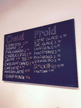 Beaconsfield, Canada: Menu with prices