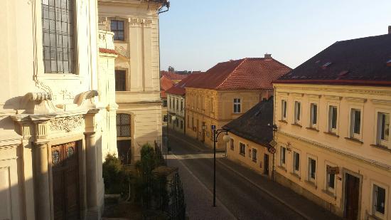 Hotel U Zvonu : View from the window.
