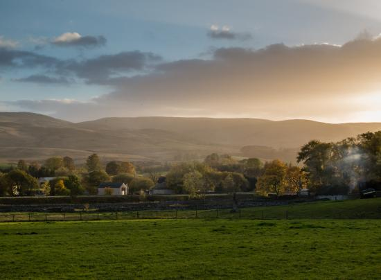 View to the Howgill fells from Cheskin House