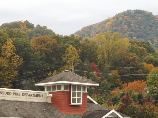 View from our room at The Gillette Motel in Gatlinburg