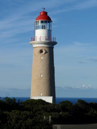 Flinders Chase, Australia: View of the lighthouse from the front of the lodge