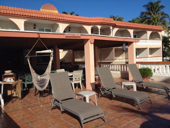 Luquillo Sunrise Beach Inn Breakfast Terrace Area
