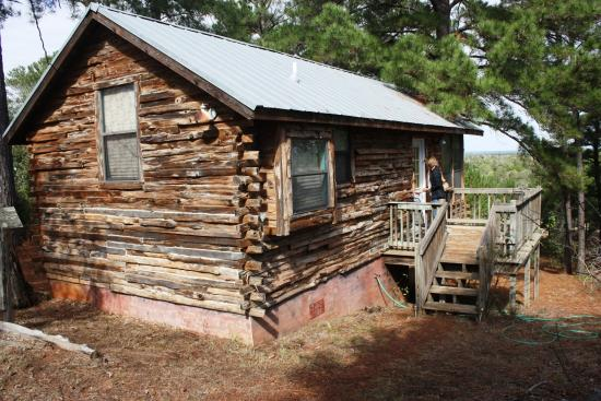 9E Ranch Texas Cabins: Eagle's Nest Front View