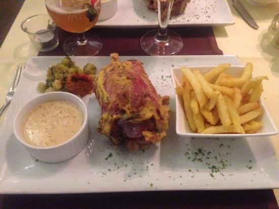 Le P'tit Belge : Jambonneau moutarde