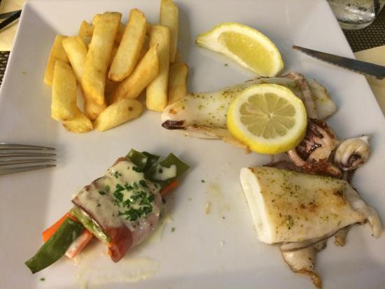 Restaurante S'albufera: gegrilde inktvis